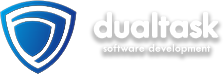Dual task footer logo